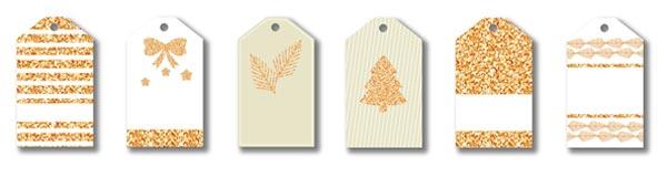 étiquette doré noel à imprimer